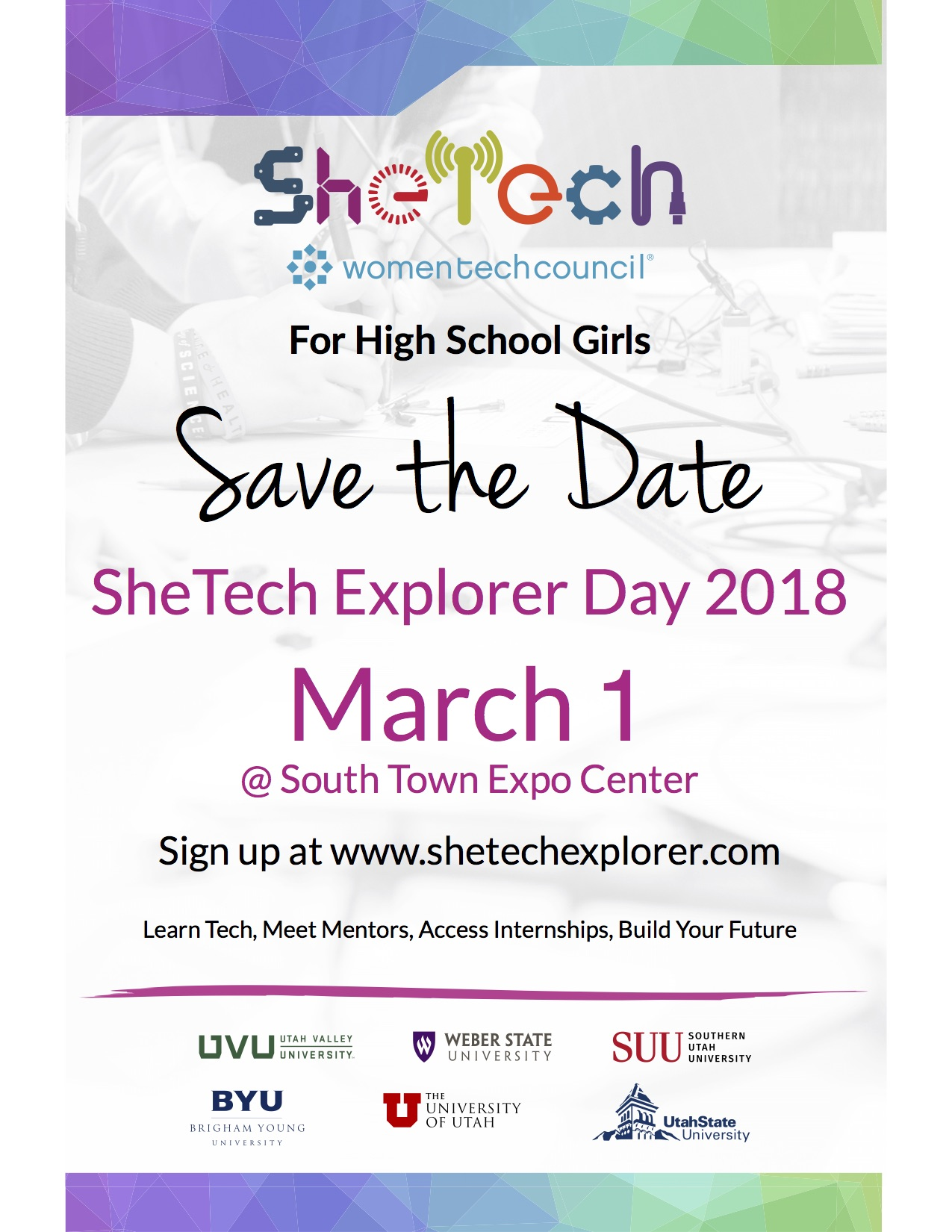 2018 SheTech Save the Date
